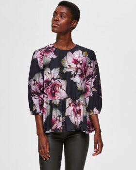 Selected Femme - SLFESTHER LS PEPLUM BLUSE - SELECTED FEMME